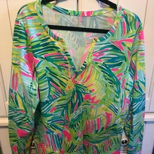 Lilly Pulitzer Knit V-Neck XLarge Top